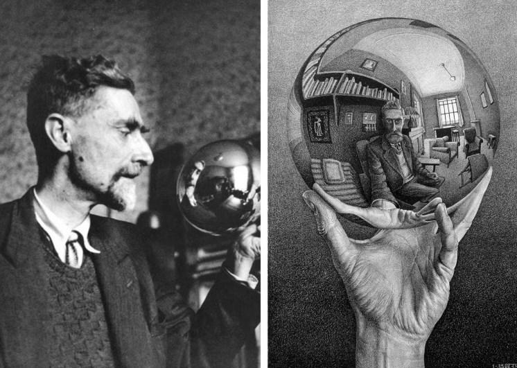 1935-escher-con-e-nella-sfera-riflettente